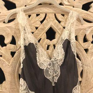 Victoria secret gray and cream lace slip/nightie